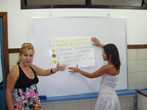 Apresentação das atividades em grupo
